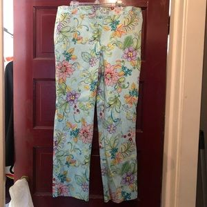 Garnet hill flower print pants